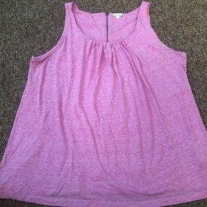 Gap Pretty Pink Zipper-back Tank Top Size XL